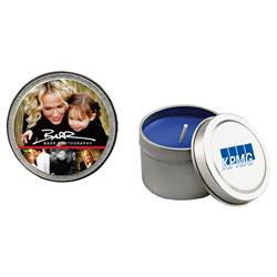 Custom Candle Tins in soy with promotional printing