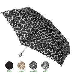 totes Mini Auto Open/Close Custom mbrella with Purse Case