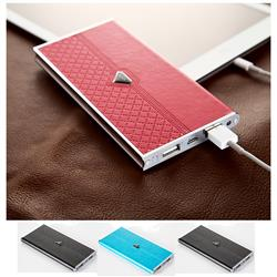 Designer Dual Port Power Bank with a custom imprint - 8000 mAh