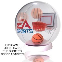 Desktop Basketball Globe Game with your custom logo