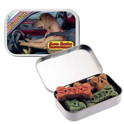 Dog Bones in Custom Tin, Promotional Dog Bones and Treats