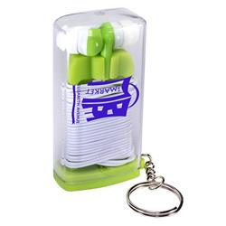 Earbuds in case key ring keychain
