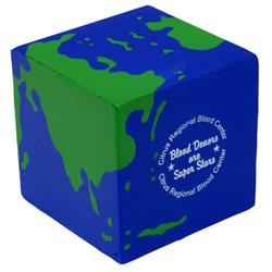 Earth Cube Custom Stress Reliever