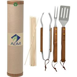 BBQ Custom Eco Set with logo on exterior