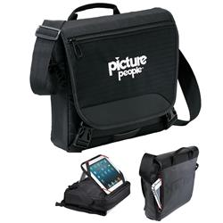 elleven Transit Tablet Messenger Bag with custom imprint for iPads, tablets and computers.
