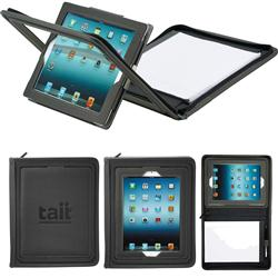 Flip Portfolio for iPad.  Custom iPad padfolio with custom imprint and flip lid.