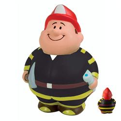 Fireman Bert Custom Stress Relievers, Fireman Promotional Stress Balls