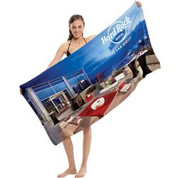Custom Full Color Beach Towel in microfiber terry - a great travel promotional item