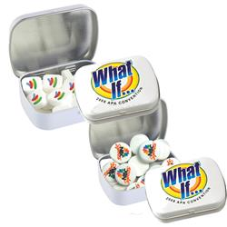 Domed Mint Tin with Printed Mints