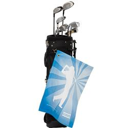 Full Color Golf Towel in a terry velour microfiber, large size, full color imprint edge to edge