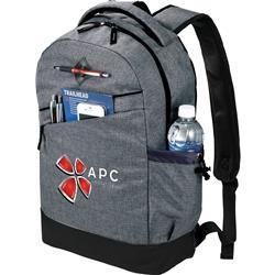 "Charcoal Graphite Slim 15"" Custom Computer Backpack"