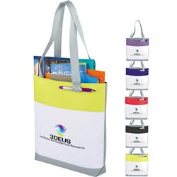 Great White Convention & Trade Show Tote Bags with custom imprint or promotional logo