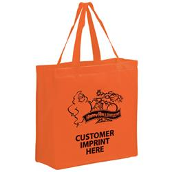 Halloween tote bag in a large size made of eco friendly non woven material with custom imprint