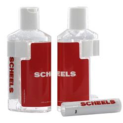 Hand Sanitizer and Lip Balm Combination with a full color imprint on each