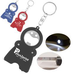 HandyMan Custom Key Light, Tape Measure and Bottle Opener Keychain with custom imprint