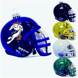 "3 1/4"" Glass Football Helmet Ornament"