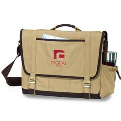 Heritage Supply Computer Messenger Bag in Cotton Canvas