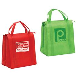 Insulated Non Woven Zippered Grocery Tote Bags