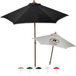 6 ft. Custom Market Umbrella with aluminum frame and wind vent