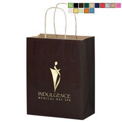Matte Colored Custom Shopper Bags 8 x 10
