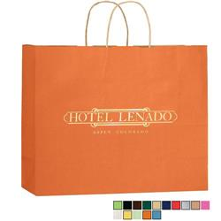 Matte Colored Custom Shopper Bags 16 x 13