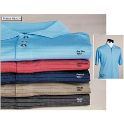 Pebble Beach Mens Pin Dot Stripe Shirts Custom Embroidered