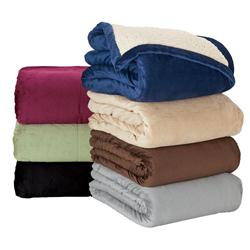Custom Micro Mink Blankets, Imitation Lambs Wool Promotional Blankets, Blanket Corporate Gift
