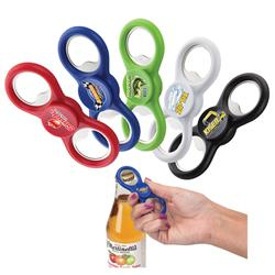 Party Starter Bottle Opener Spinner customized with your logo by Adco Marketing