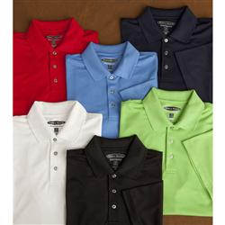 Promotional Pebble Beach Jet Pique Cotton Polo Custom Embroidered