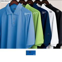 Pebble Beach Tonal Custom Embroidered Golf Polo Shirts