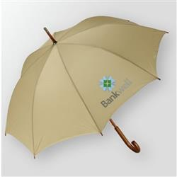 Wood Handled Fashion Umbrella with 48 inch Arc and custom imprint