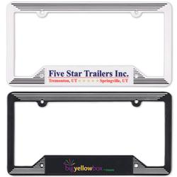 Molded Plastic License Plate Frames
