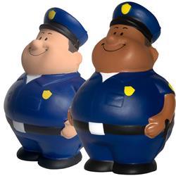 Custom Police Stress Reliever, Promotional Policeman Bert Stress Ball