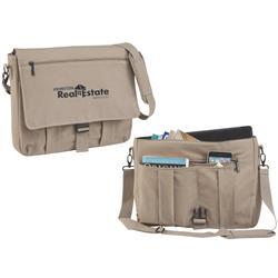 Tan Portland Canvas Messenger Bag custom