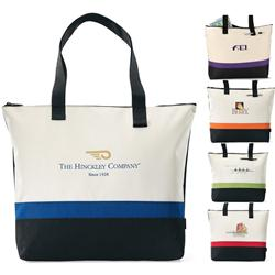 Regatta Race Promotional Tote Bag with Zipper, Custom Tote Bags