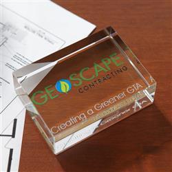 Rectangle Crystal Paperweight Award Customized
