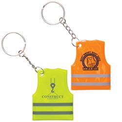 Reflective Safety Vest Keytag or Keychain