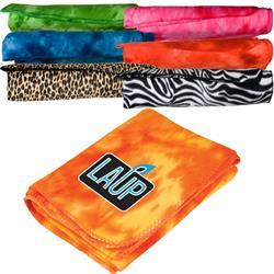 Retro Blanket in bright colors custom printed