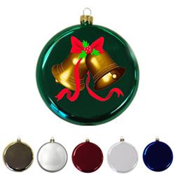 "3 1/2"" Glass Round Disk Ornament"