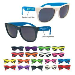 Rubberized Sunglasses printed with logo