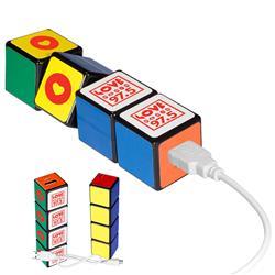 Rubik's Custom Power Bank with a 2600 mAh lithium ion battery