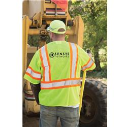 Class 3 Deluxe Mesh Safety Vest, Zipper Front with Sensys Logo