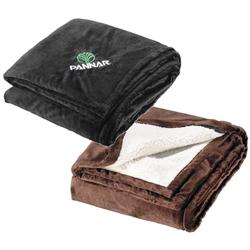 Sherpa Custom Blankets, Promotional Blankets in Micro Fur, Corporate Blanket Gift