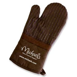 Silicone Striped Custom Oven Mitts with Promotional Logo