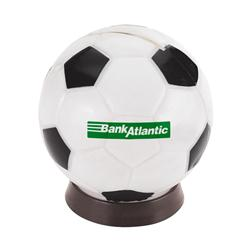 Custom Plastic Soccer Bank or Piggy Banks