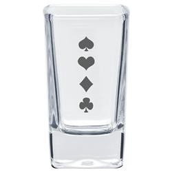 Square Custom Shot Glasses and Dessert Glass with Custom Logo