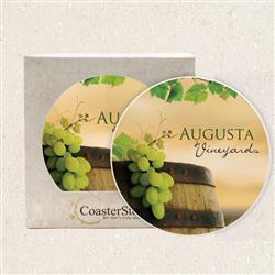 "4-1/4"" Full Color Absorbant Stone Coasters"