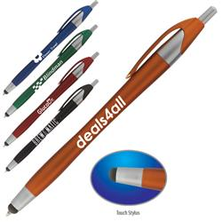 Stratus Touch stylus pen with retractable ballpoint tip