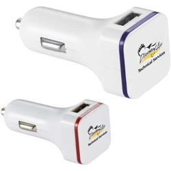 Thunderbolt Dual USB Car Charger - Tablet Compatible