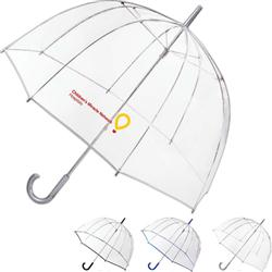totes Bubble Umbrella.  Clear totes brand umbrella with custom imrpint.